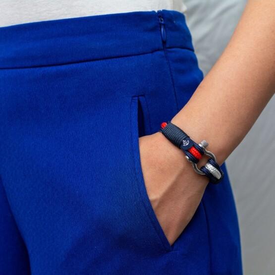 Морской браслет красно-белого цвета для мужчин и женщин — № 3014 фото 5