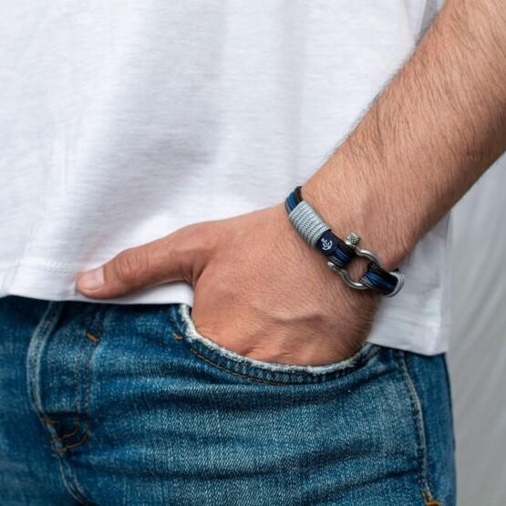 Морской браслет для мужчин и женщин в синих тонах — № 3095 фото 5