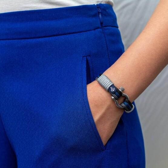 Морской браслет для мужчин и женщин в синих тонах — № 3095 фото 6