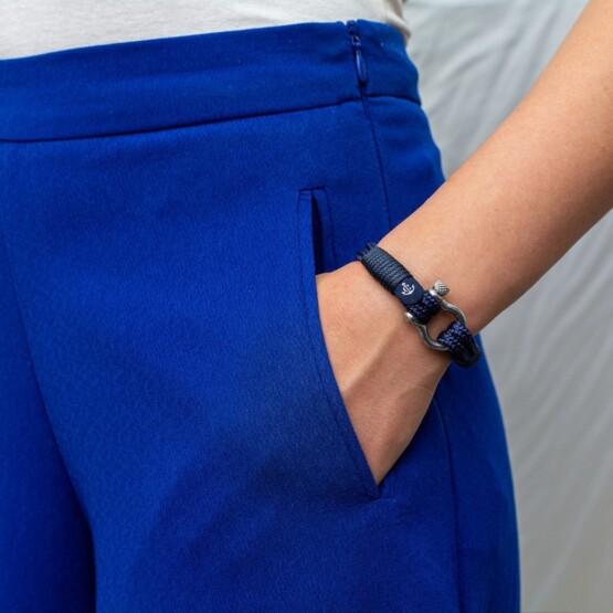 Морской браслет тёмно-синего цвета для мужчин и женщин — № 3118 фото 5