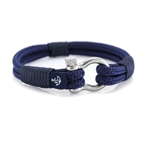 Морской синий браслет для мужчин и женщин — № 3118