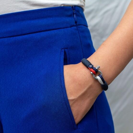 Трёхцветный тонкий браслет для мужчин и женщин — № 861 фото 5