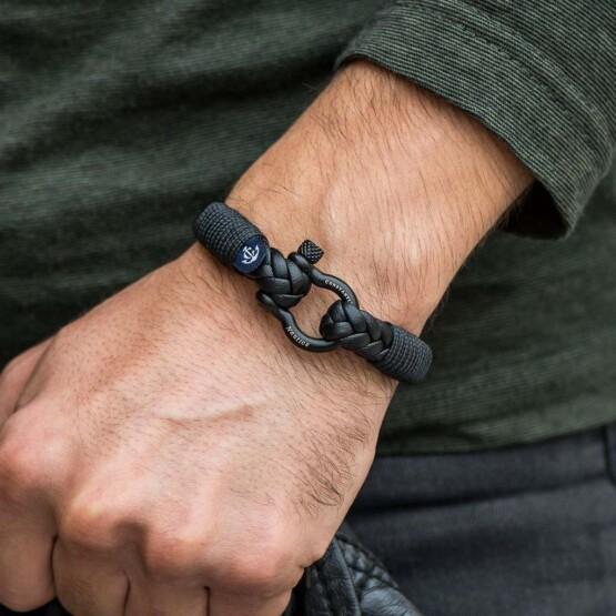 Кожаный стильный мужской браслет чёрного цвета — Jack Tar 10029 Кожаный стильный мужской браслет чёрного цвета — Jack Tar 10029 фото 5