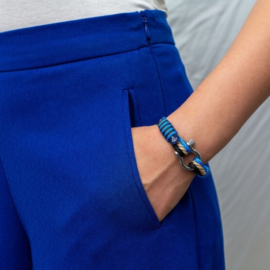 Комбинированный морской браслет для мужчин и женщин — № 4004 фото 5