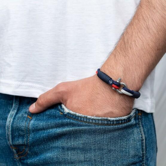Парные браслеты для влюблённых красно-белого цвета — № 948 фото 2
