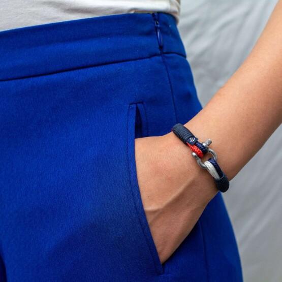Парные браслеты для влюблённых красно-белого цвета — № 948 фото 3