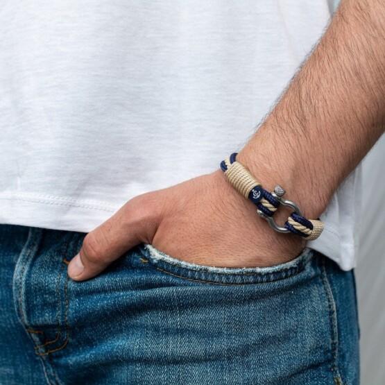 Морской браслет бежевого цвета для мужчин и женщин — № 4011 фото 4