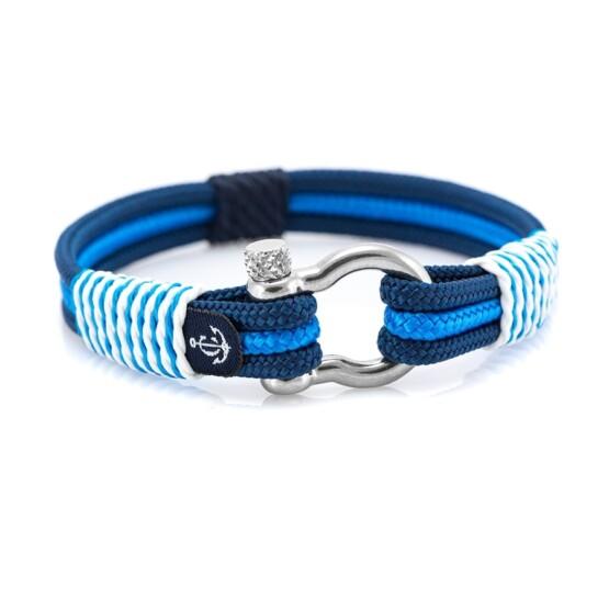 Чёрно-Синий морской браслет для мужчин и женщин — № 5103 фото 1