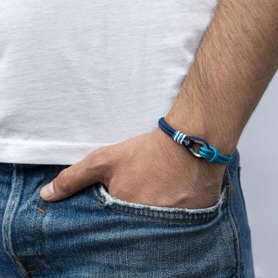 Сине-Голубой браслет с морской тематики для мужчин и женщин — № 726