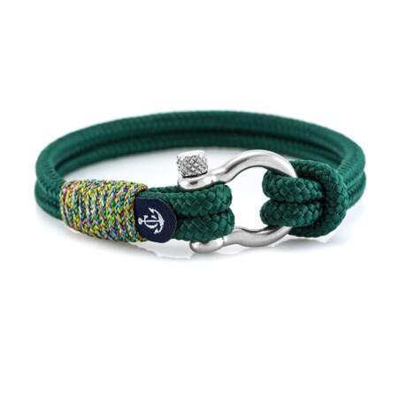 Brățară nautică din sfoară de culoare verde - CNB #5134